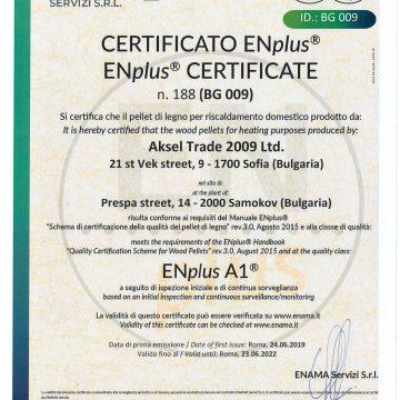 Certificate EN Plus A1