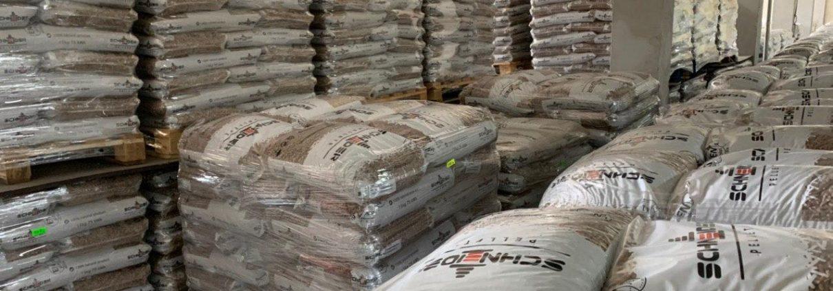 складиране и съхранение на пелети Schneider Pellets